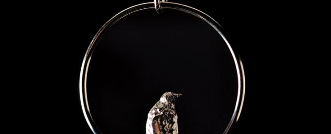 Pingvin på Antarktis. Halskæde med vedhæng i sterlingsølv.