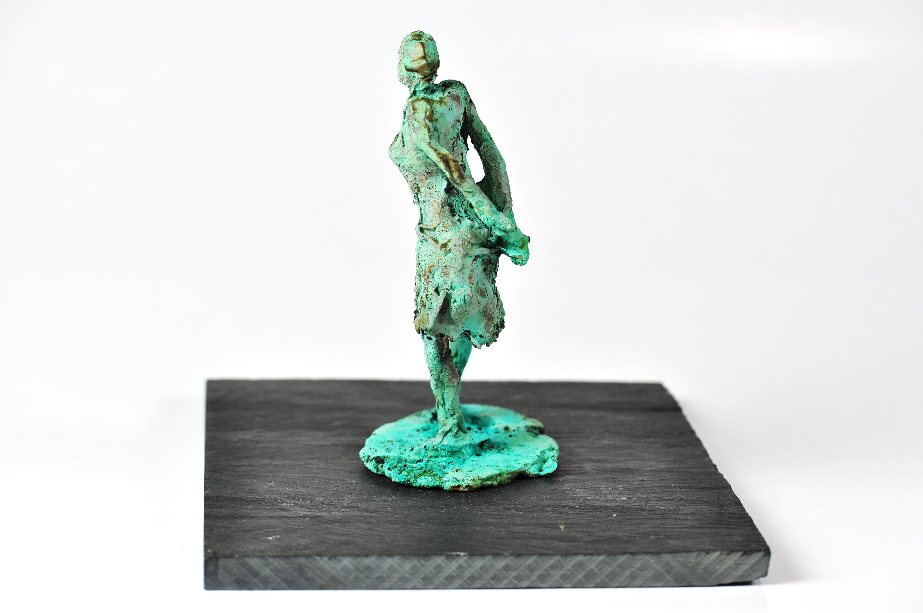 Bronzeskulptur støbt cire perdu