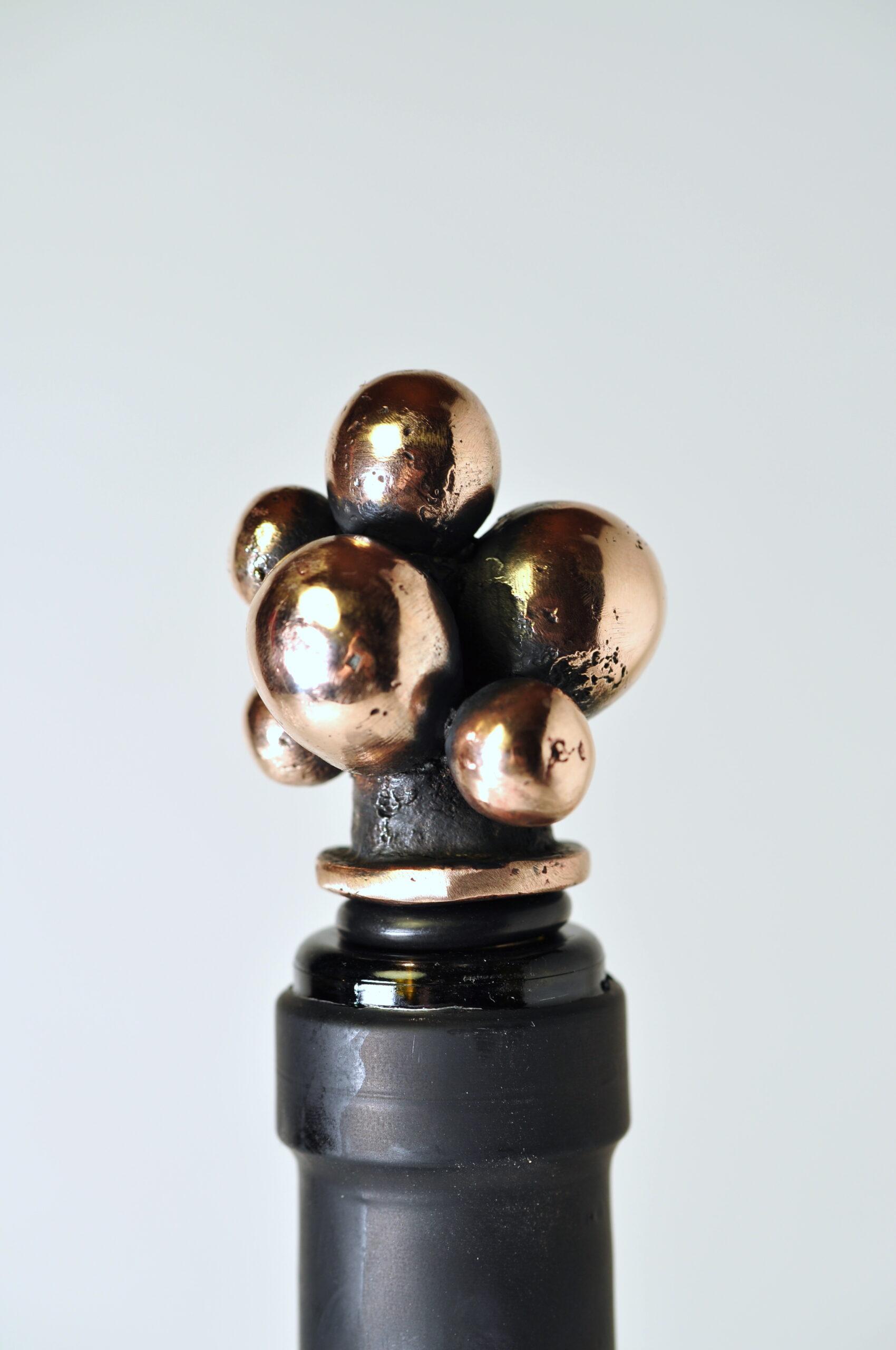 Vinprop i bronze - Druer.