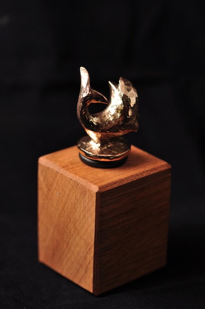 Delfin - Vinprop i bronze