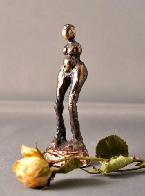 Bronze figur - Kvinde