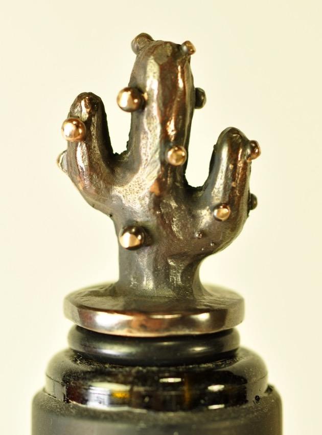 Kaktus - vinprop i bronze