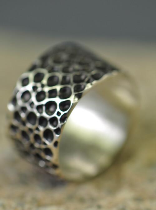Ring - oxyderet sterlingsølv - Monbo Smykker - Fingerringe