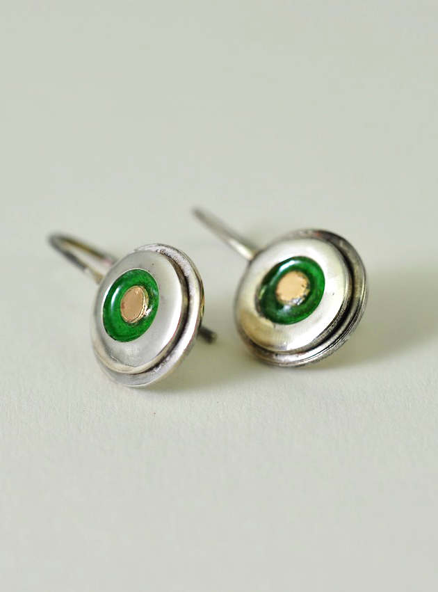 Emalje-ørering. Monbo - Håndlavede smykker